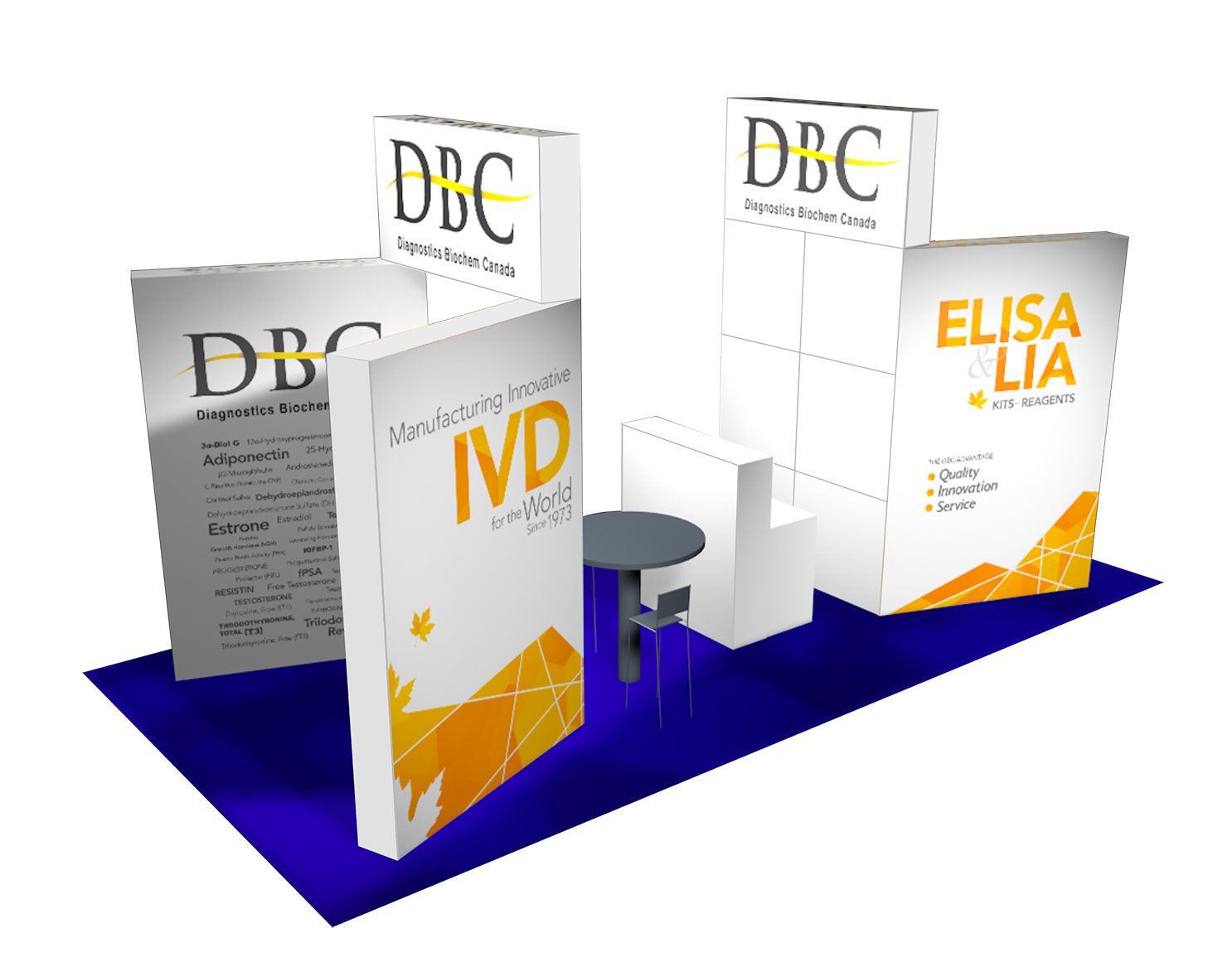 DBC booth #70 at Euromedlab 2019