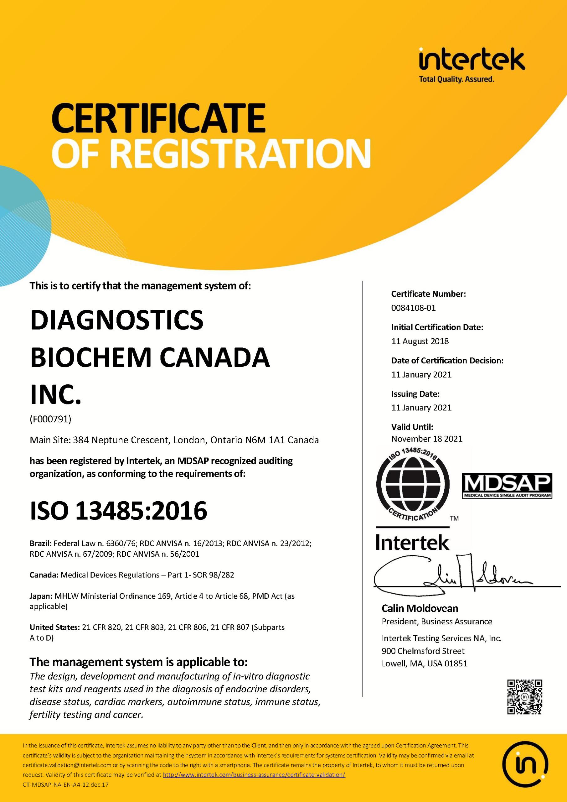 ISO 13485-2016 MDSAP_REV